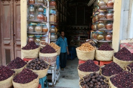 Dates and chili and other things sold in baskets in Luxor