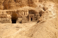Some high priests were honored with tombs set in the mountainside surrounding the temple