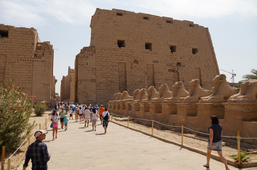 "The ""entrance"" to Karnak Temple"