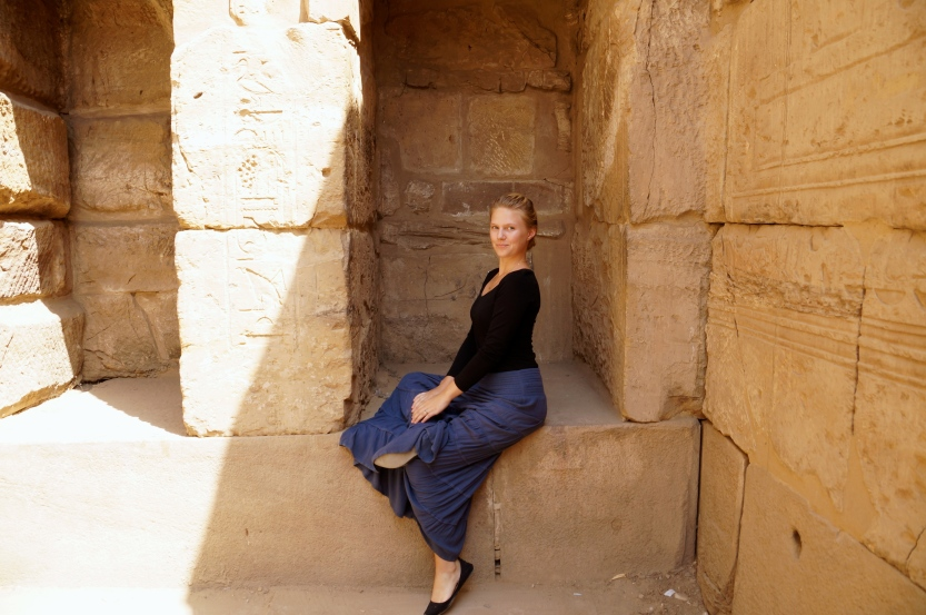 today's big success: people offered, and I finally got, a couple more photos of Alison in Egypt