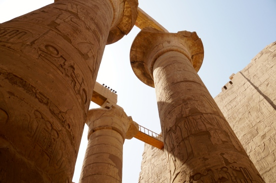 Karnak Temple is littered with 134 of these massive columns; the bridge caught my eye - it looks like a set prop
