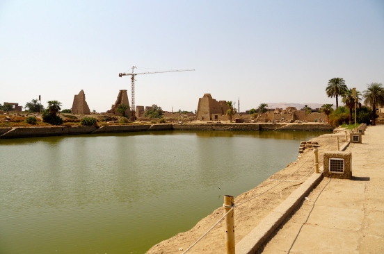 "the ""lake"" inside Karnak Temple"