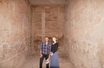 Belal and I inside a tomb in the restricted area